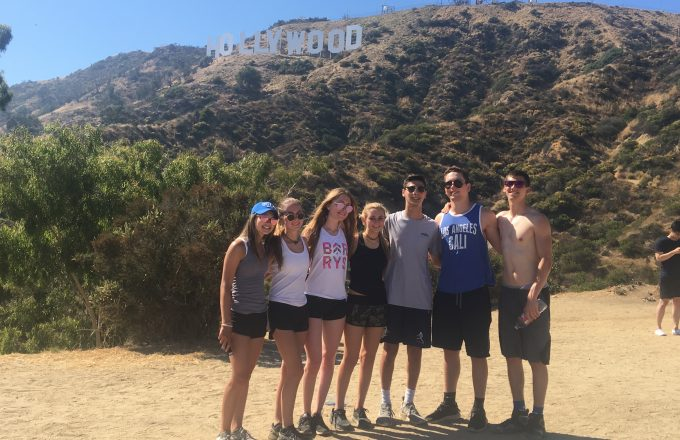 ACA students in front of Hollywood sign