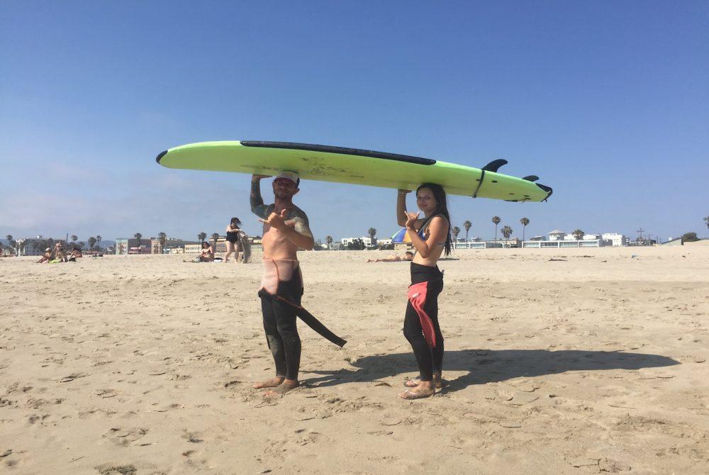 surfing in la
