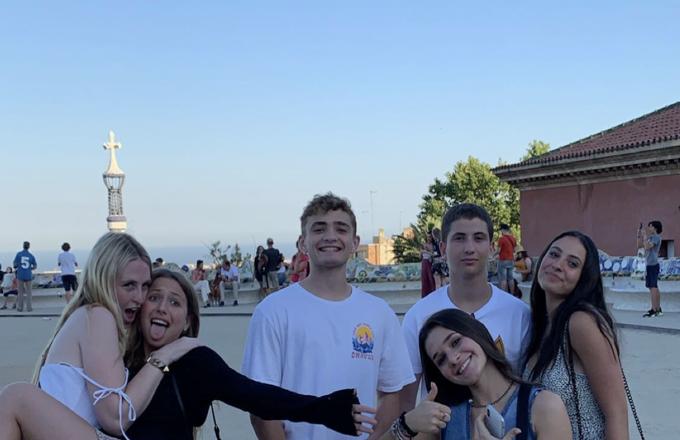 Students at Sagrada Familia Barcelona Spain Study Abroad Program