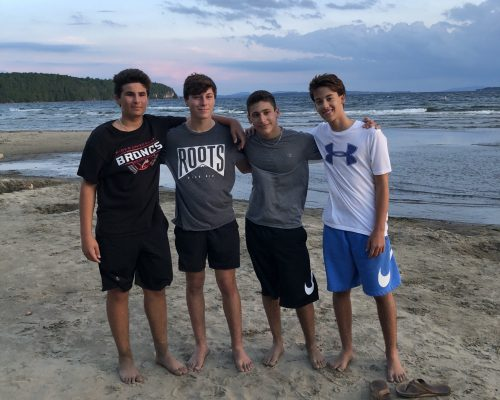 boys at the beach in Burlington, Vermont