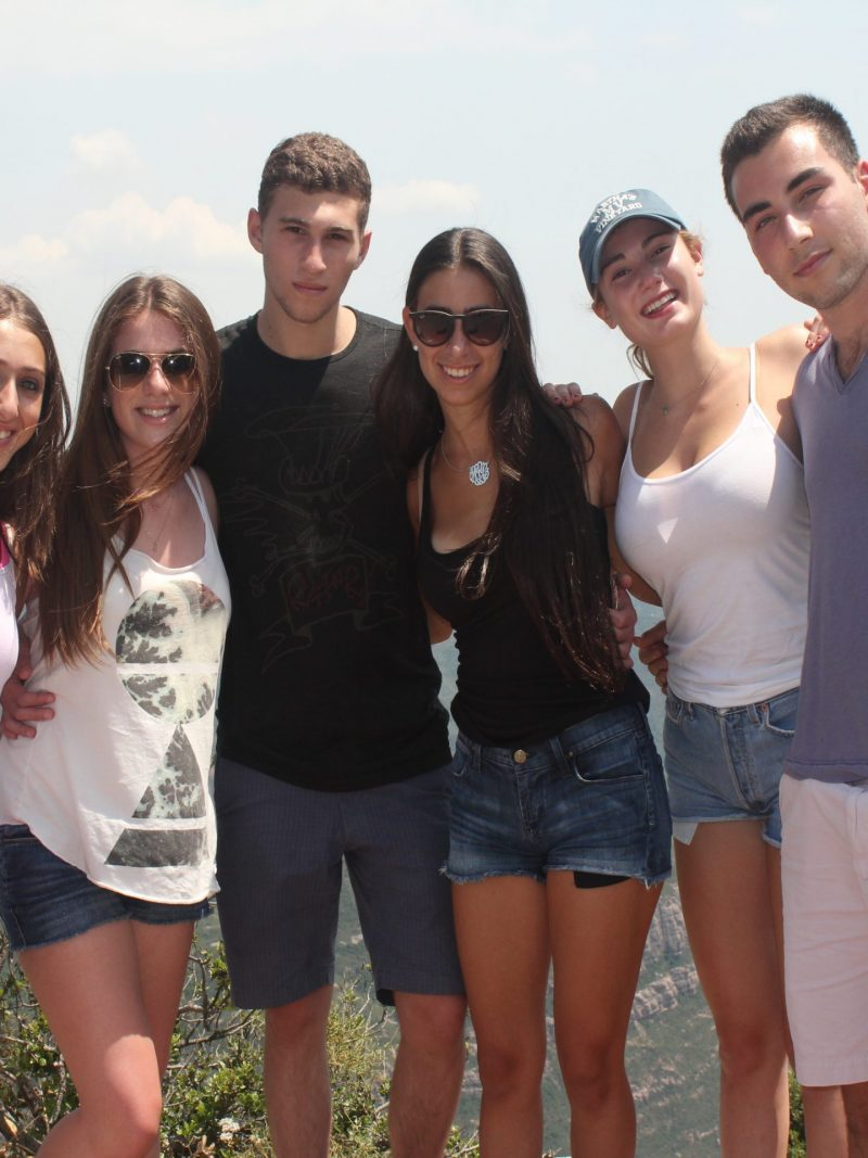 group of students at Montserrat Spain