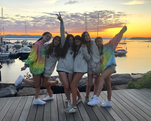 Students at Sunset at Burlington, Vermont Pre-College Summer Program