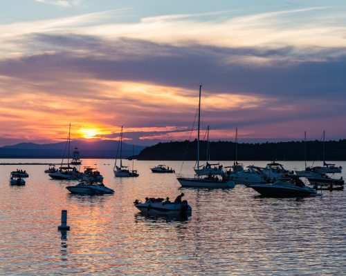 sunset burlington, Vermont
