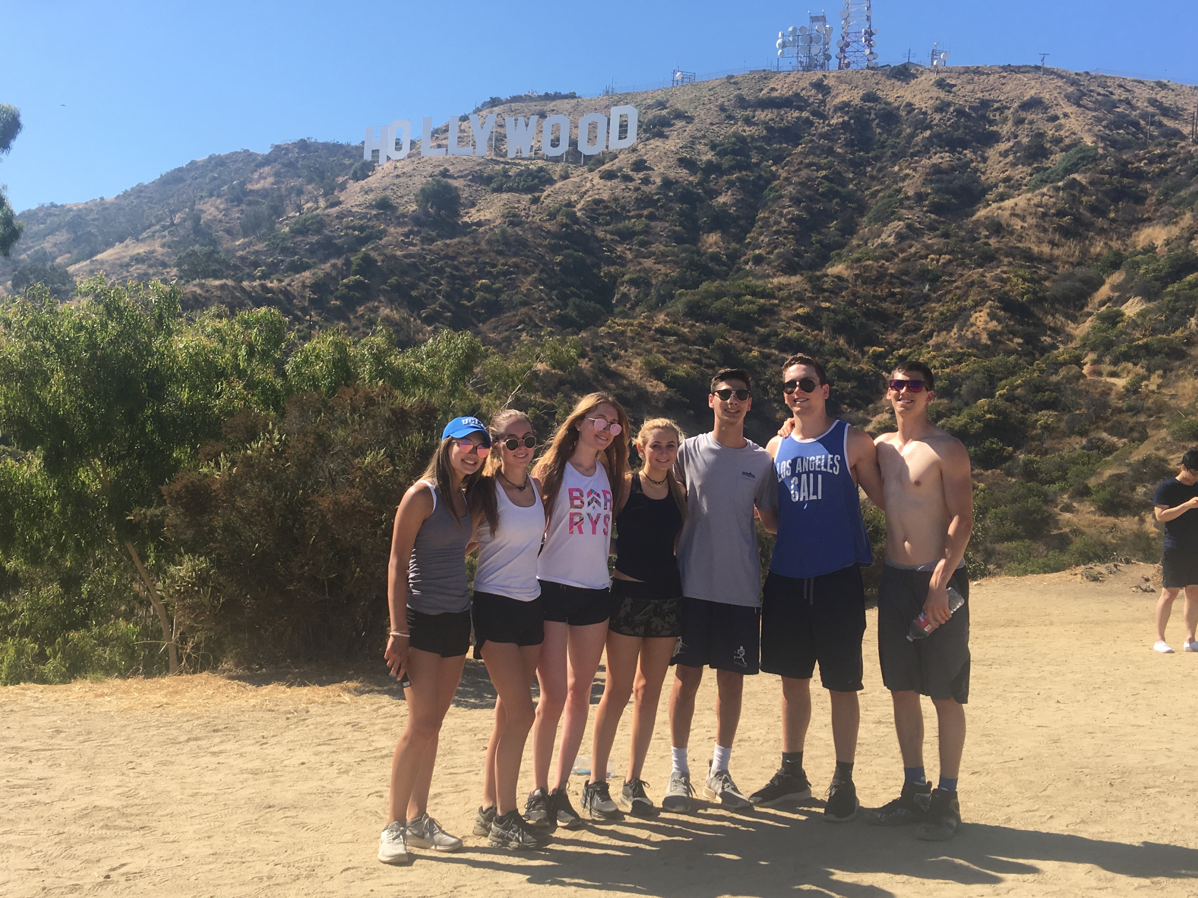 Hollywood sign during summer