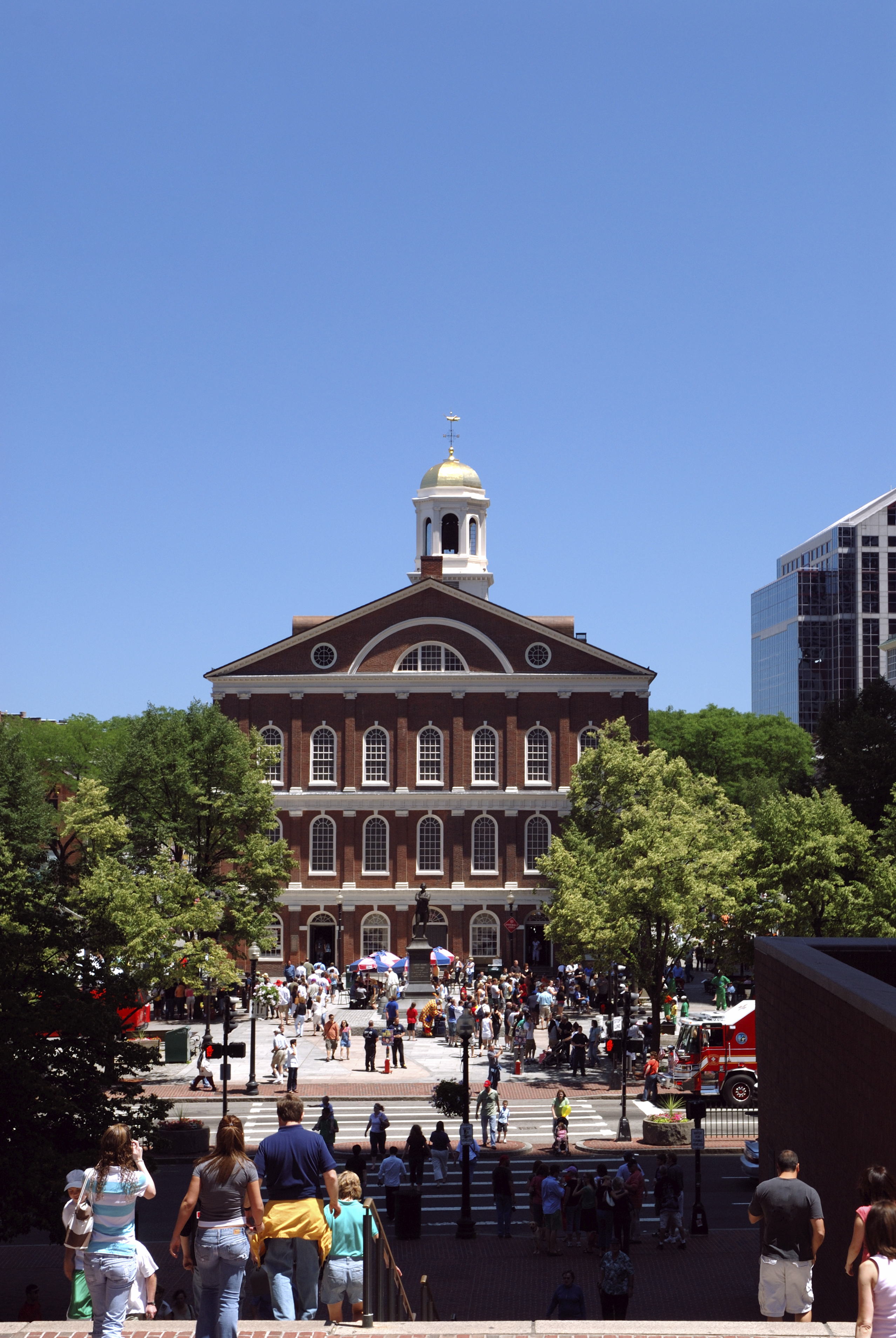 Faneuil Hall from Boston City Hall